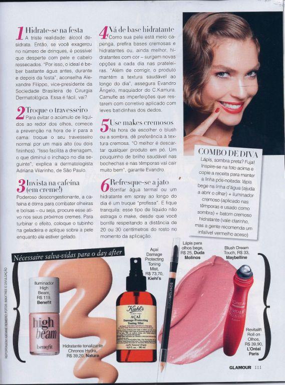 revista Glamour beleza depois da festa Adriana Vilarinho