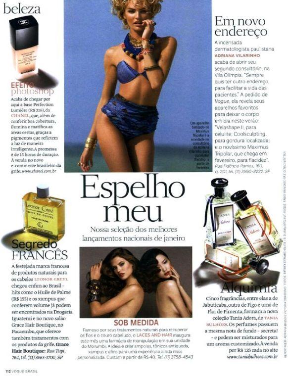 revista Vogue nova clínica Adriana Vilarinho