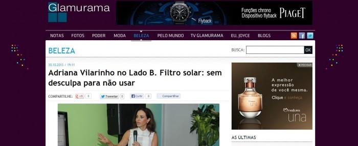 Glamurama Adriana Vilarinho