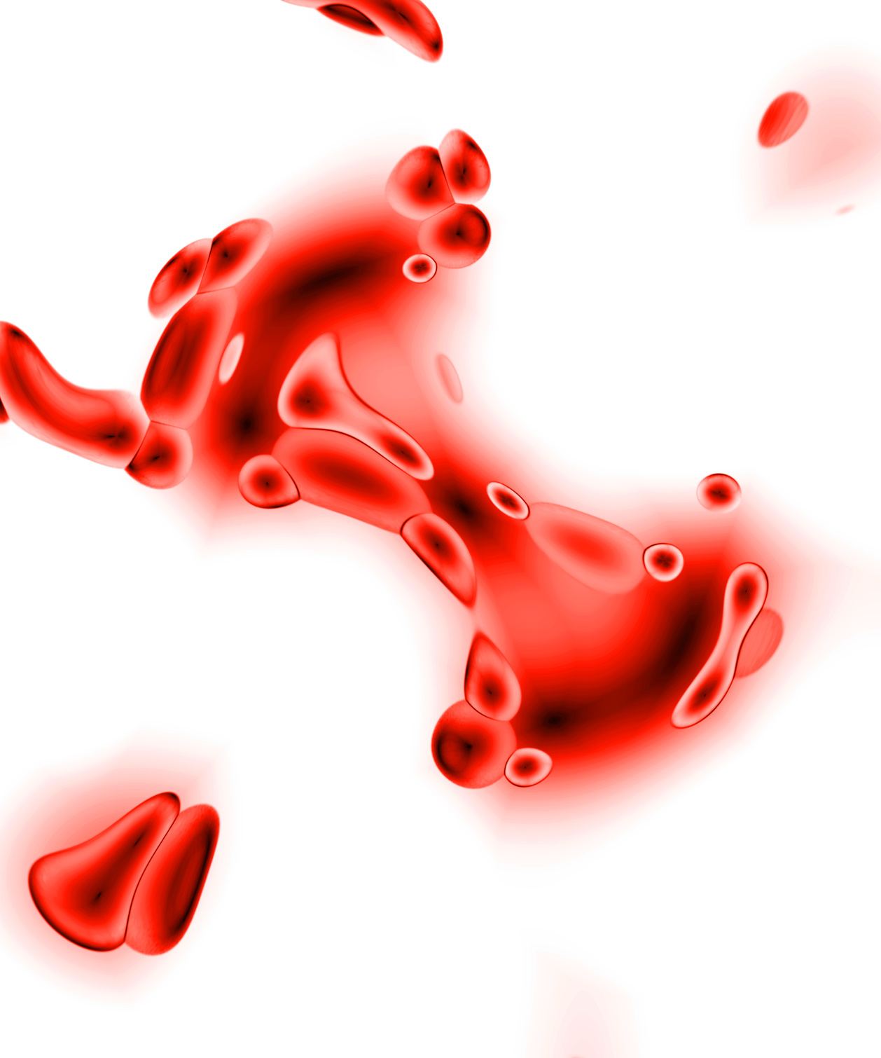 3d rendering of some red blood cells.